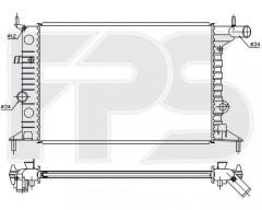 Радиатор охлаждения двигателя для OPEL (FPS) FP 52 A280