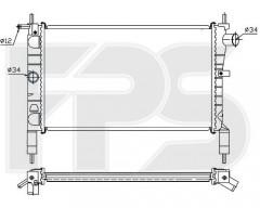 Радиатор охлаждения двигателя для OPEL (FPS) FP 52 A273