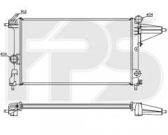 Радиатор охлаждения двигателя для OPEL (FPS) FP 52 A252