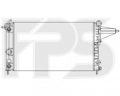 Радиатор охлаждения двигателя для OPEL (FPS) FP 52 A1082