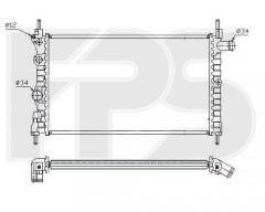 Радиатор охлаждения двигателя для OPEL (FPS) FP 52 A271-P