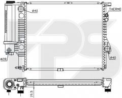 Радиатор охлаждения двигателя для BMW (FPS) FP 14 A42-P