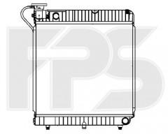 Радиатор охлаждения двигателя для MERCEDES (FPS) FP 46 A743