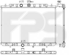 Радиатор охлаждения двигателя для NISSAN (KOYORAD) FP 50 A1348-X