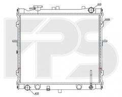 Радиатор охлаждения двигателя для KIA (NISSENS) FP 40 A1097-X
