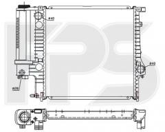 Радиатор охлаждения двигателя для BMW (NRF) FP 14 A867-X