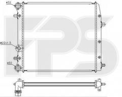 Радиатор охлаждения двигателя для SEAT / SKODA / VW (FPS) FP 74 A440