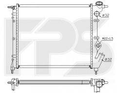 Радиатор охлаждения двигателя для RENAULT (FPS) FP 56 A229-P