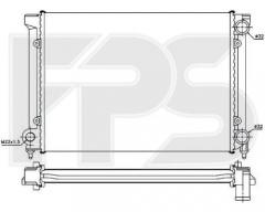 Радиатор охлаждения двигателя для VW (FPS) FP 74 A438