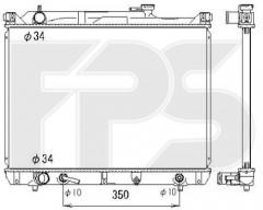 Радиатор охлаждения двигателя для SUZUKI (KOYORAD) FP 68 A518-X