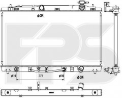 Радиатор охлаждения двигателя для Lexus / TOYOTA (KOYORAD) FP 81 A1323-X