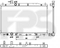 Радиатор охлаждения двигателя для HONDA (KOYORAD) FP 30 A1396-X