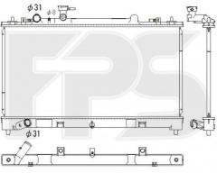 Радиатор охлаждения двигателя для MAZDA (KOYORAD) FP 44 A1385-X