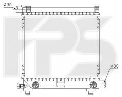 Радиатор охлаждения двигателя для MERCEDES (FPS) FP 46 A215