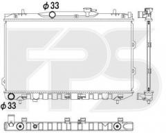 Радиатор охлаждения двигателя для KIA (KOYORAD) FP 40 A1104-X
