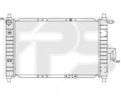 Радиатор охлаждения двигателя для DAEWOO (FPS) FP 22 A696