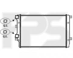 Радиатор охлаждения двигателя для SEAT / SKODA / VW (KOYORAD) FP 62 A470-X
