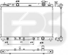 Радиатор охлаждения двигателя для Toyota Camry V40 '06-11, амер. версия (KOYORAD) FP 70 A1322-X