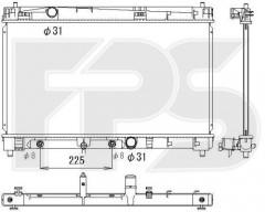 Радиатор охлаждения двигателя для TOYOTA (KOYORAD) FP 70 A1327-X