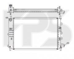 Радиатор охлаждения двигателя для FORD (FPS) FP 28 A156