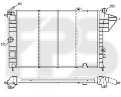 Радиатор охлаждения двигателя для OPEL (FPS) FP 52 A253-P