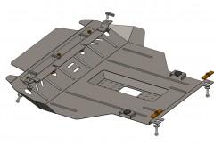Кольчуга Защита двигателя и КПП, радиатора для Chery Amulet '12-14, V-1,5i, МКПП (Кольчуга)