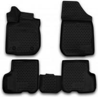 Коврики в салон 3D для Renault Logan '13-16 полиуретановые, черные (Novline / Element)
