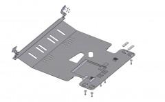 Защита двигателя и КПП, радиатора для Citroen Jumper '06-14, V-все (Кольчуга)