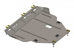 Защита картера двигателя и КПП для Ford Focus III EcoBoost '13-, V-1,0 (Кольчуга)