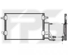 Радіатор кондиціонера для AUDI (AVA) FP 12 K197