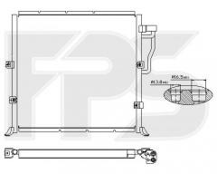 Радиатор кондиционера для BMW (FPS) FP 14 K05