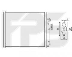Радиатор кондиционера для BMW (FPS) FP 14 K17