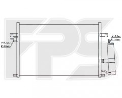 Радиатор кондиционера для CHEVROLET (Nissens) FP 17 K337-X
