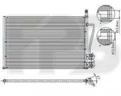 Радиатор кондиционера для FORD / MAZDA (Nissens) FP 28 K75-X
