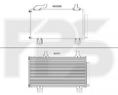 Радиатор кондиционера для HONDA (FPS) FP 30 K143-X