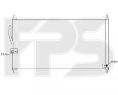 Радиатор кондиционера для HONDA (FPS) FP 30 K260