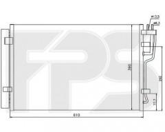 Радиатор кондиционера для HYUNDAI (Nissens) FP 32 K509