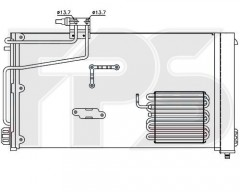 Радіатор кондиціонера для MERCEDES (NRF) FP 46 K95