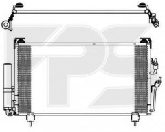 Радиатор кондиционера для MITSUBISHI (FPS) FP 48 K517