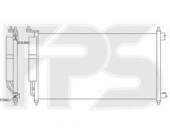 Радиатор кондиционера для NISSAN (NRF) FP 50 K379-X