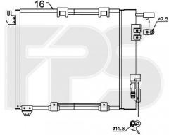 Радиатор кондиционера для OPEL (Nissens) FP 52 K122