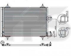 Радиатор кондиционера для CITROEN / PEUGEOT (FPS) FP 54 K24