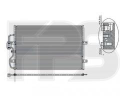 Радиатор кондиционера для CITROEN / FIAT / PEUGEOT (NRF) FP 54 K39-X