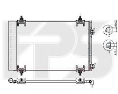 Радиатор кондиционера для CITROEN / PEUGEOT (NRF) FP 54 K435-X