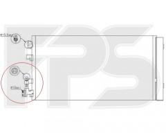 Радиатор кондиционера для RENAULT (Nissens) FP 56 K165-X