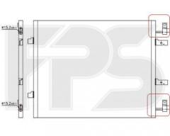 Радиатор кондиционера для NISSAN / RENAULT / OPEL (NRF) FP 56 K252-X