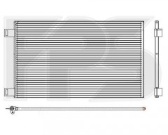 Радиатор кондиционера для RENAULT (NRF) FP 56 K30-X