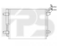 Радиатор кондиционера для SEAT / VW (NRF) FP 74 K153-X