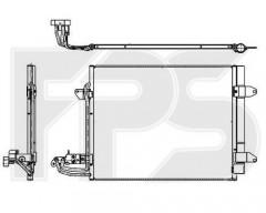 Радиатор кондиционера для VW (FPS) FP 74 K202