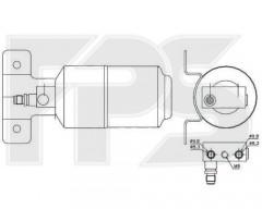 Осушитель кондиционера для VW (NRF) FP 74 Q106-X